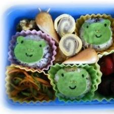 【キャラ弁】梅雨(かえる、カタツムリ、傘)のお弁当