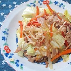 【うま塩】うま塩ドレッシングで肉野菜炒め