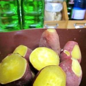 炊飯器で簡単!ねっとり甘~いふかしサツマイモ