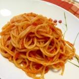 トマトとにんにくの塩麹パスタ