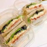 さつまいもポテトサラダの☆サンドイッチお弁当