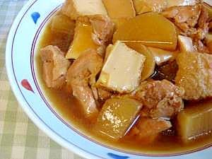 大根と鶏肉と厚揚げの煮物