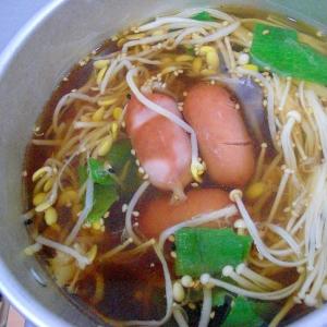 麺つゆで簡単ウインナースープ