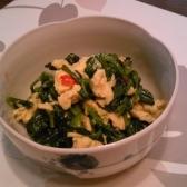 空芯菜と卵のスイートチリ和え