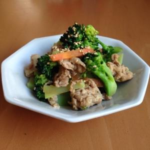 豚肉とブロッコリーの中華炒め♪