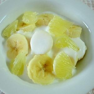 バナナとパール柑のデザート