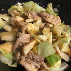 豚肉とキャベツのコチュジャン入り野菜炒め