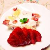 リメイク♡水切りヨーグルト苺ケーキ