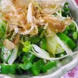 オクラキャベツの簡単和風サラダ