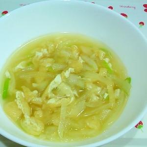 大根と油揚げの中華風スープ