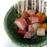 幼児食初期★玉葱、ウィンナー、パプリカ焼き
