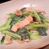 【もう1品】小松菜と豚肉の中華炒め