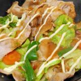 生姜焼きの豚肉でチャンチャン焼き風