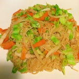 タイの米麺で☆簡単に焼きビーフン