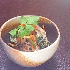 ツナとポン酢で簡単!春菊と春雨のさっぱりサラダ