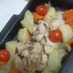 レンジで時短! チキンのオーブン焼き