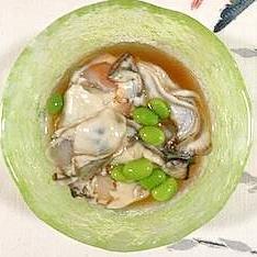 牡蠣に、枝豆