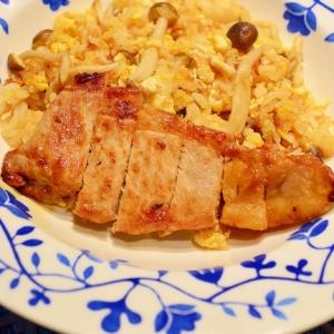エコ!生姜焼きの残りタレで、チャーハン豚丼