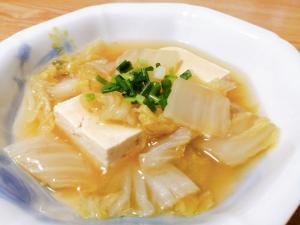 豆腐の白菜あんかけ