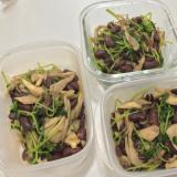 豆苗と平茸の炒め物