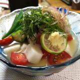 爽やか夏野菜たっぷりの冷汁