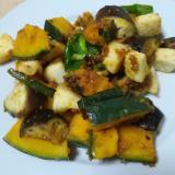 いかと野菜の醤油麹炒め