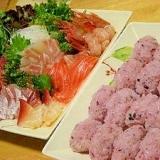 黒米で桜色酢飯*お好み乗っけ握らず寿司