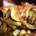 豚ヒレ肉とごぼうの炒め物