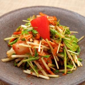 簡単副菜!キムチと水菜の和え物