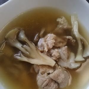 豚肉と舞茸のスープ(^^)