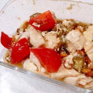 ささみ蒸し鶏(圧力鍋)でオクラ納豆のネバネバあえ