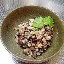 ひじきと豆腐とごまの中華風白和え