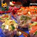 ひな祭り★パ-ティにカップ寿司