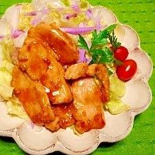 鶏胸肉☆こってり生姜焼き