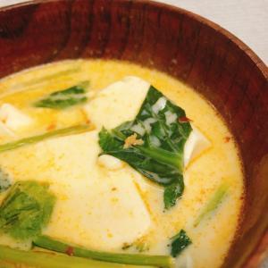【簡単・美味!】豆乳たっぷり麻婆豆腐スープ
