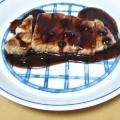 豚テキのブルーベリーソース
