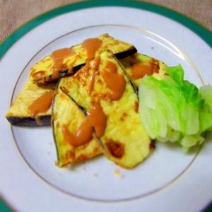 腎臓食、透析食に 茄子のしっとりふんわりステーキ