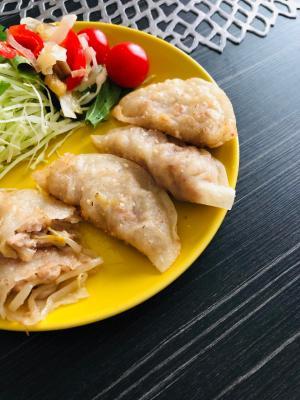 ひき肉ともやしの春巻き風☆フライパンで揚げ餃子