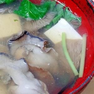 秋ならでは☆ 「牡蠣とキノコのお吸い物」