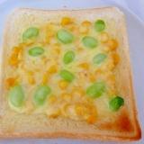 ☆子供も大好き♪ 枝豆とコーンのチーズトースト☆