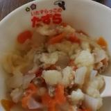 【離乳食後期】豚挽肉・トマト・玉葱のパン粥