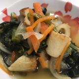 小松菜と新玉葱と竹輪の煮浸し(^^)