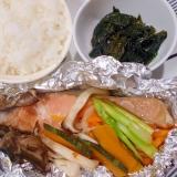 ワンプレート 鮭バターきのこと野菜のホイル焼き