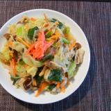 小松菜と野菜たっぷり皿うどん