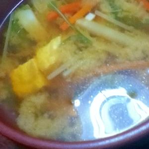 毎日みそ汁【ニンジン&豆腐&水菜でほっこり】
