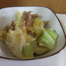 豚肉とキャベツのレモンでさっぱり炒め