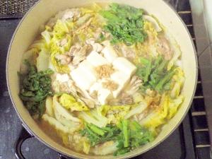 豚肉と白菜のミルフィーユ鍋♪ごま味噌仕立て