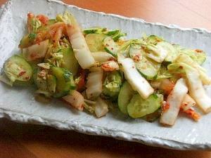 塩麹&キムチで❤白菜とキュウリの一夜漬け♪