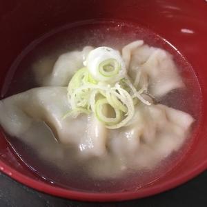 たった5分!冷凍餃子でスープ