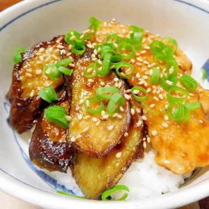 鶏と茄子の照り焼き丼